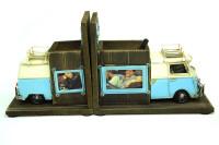 Mnk - Dekoratif Metal Minibüs Kitap Tutucu Kalemlik Çerçeve (1)