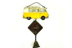 Mnk - Dekoratif Metal Minibüs Lütfen Sessiz Olunuz