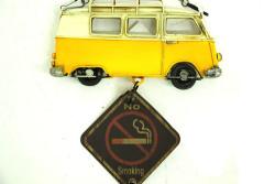 Mnk - Dekoratif Metal Minibüs Lütfen Sessiz Olunuz (1)