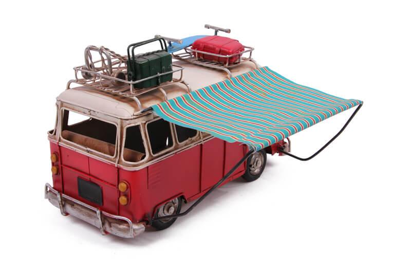 Dekoratif Metal Minibüs Tenteli