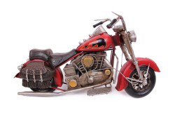 MNK - Dekoratif Metal Motosiklet Çantalı