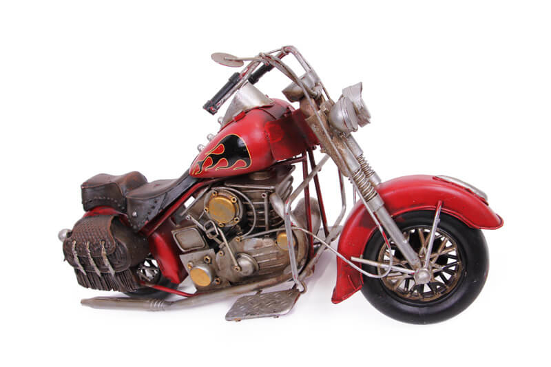 Dekoratif Metal Motosiklet Çantalı