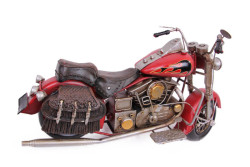 Dekoratif Metal Motosiklet Çantalı - Thumbnail