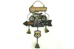 Mnk - Dekoratif Metal Motosiklet Kapı Çanı