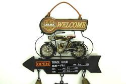 Mnk - Dekoratif Metal Motosiklet Kapı Çanı (1)