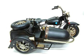 - Dekoratif Metal Motosiklet Sepetli (1)