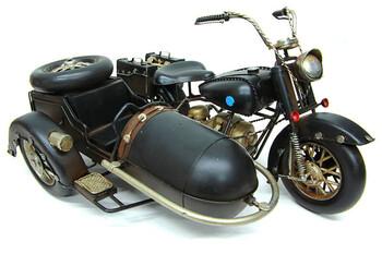 - Dekoratif Metal Motosiklet Sepetli