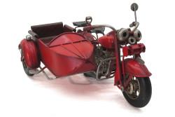 MNK - Dekoratif Metal Motosiklet Sepetli