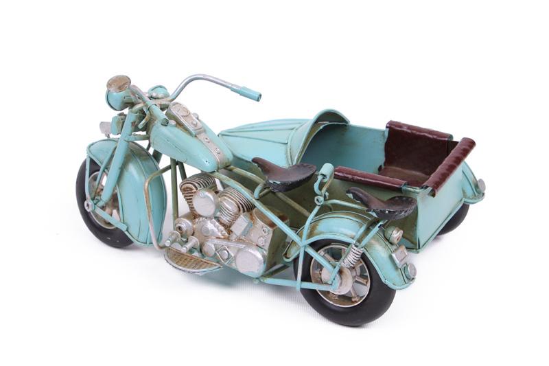 Dekoratif Metal Motosiklet Sepetli