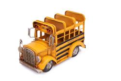 Mnk - Dekoratif Metal Araba Okul Otobüsü Kalemlik (1)