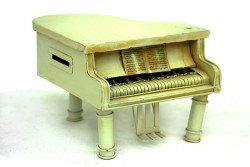 Mnk - Dekoratif Metal Piyano Kumbara
