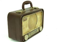 Mnk - Dekoratif Metal Radyo Bavul (1)