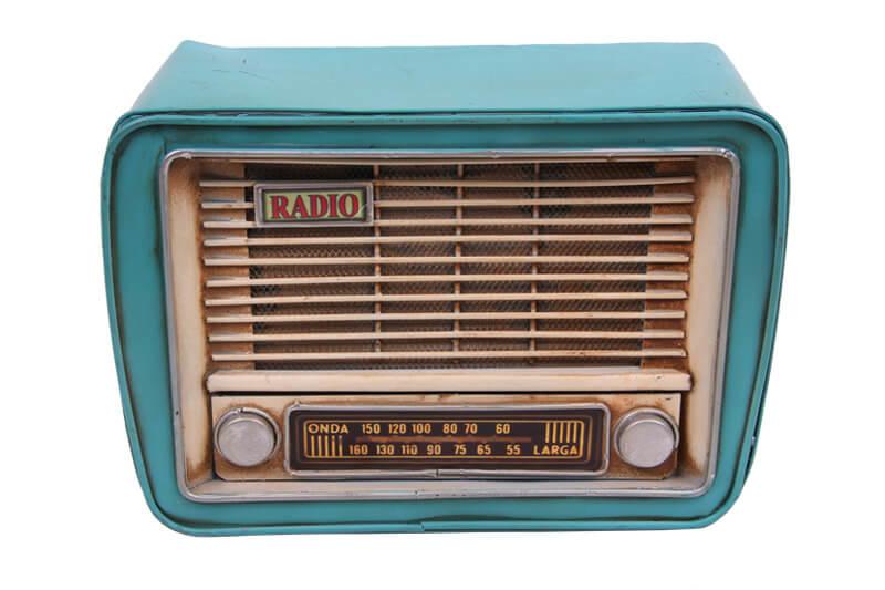 Dekoratif Metal Radyo Kumbaralı