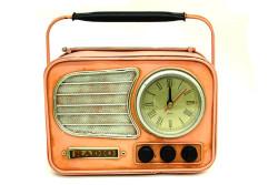 MNK - Dekoratif Metal Radyo Saat