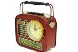 Mnk - Dekoratif Metal Radyo Saatli Kumbara (1)