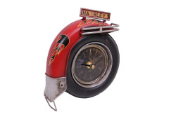 Mnk - Dekoratif Metal Saat Motosiklet Tekerleği (1)