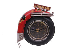 Mnk - Dekoratif Metal Saat Motosiklet Tekerleği