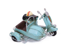 Mnk - Dekoratif Metal Scooter Sepetli