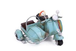 MNK - Dekoratif Metal Scooter Sepetli (1)