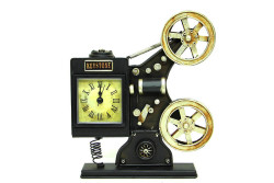 MNK - Dekoratif Metal Sinemaskop Saat