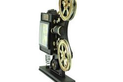 Dekoratif Metal Sinemaskop Saat - Thumbnail