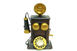 MNK - Dekoratif Metal Telefon Kumbaralı