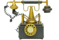 - Dekoratif Metal Telefon Kumbaralı