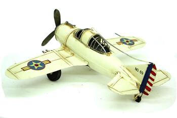 Dekoratif Metal Uçak - Thumbnail