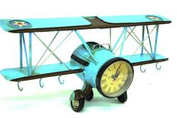 Mnk - Dekoratif Metal Uçak Askı Ve Saatli