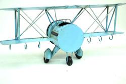 Mnk - Dekoratif Metal Uçak Askı Ve Saatli (1)