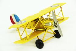 Mnk - Dekoratif Metal Uçak Çift Kanatlı (1)