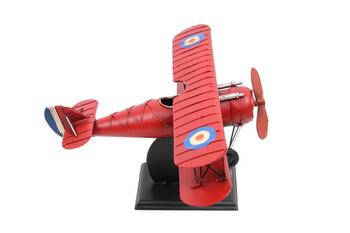 Dekoratif Metal Uçak Çift Kanatlı Standlı - Thumbnail
