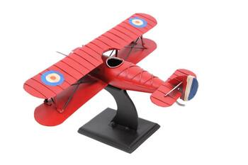 MNK - Dekoratif Metal Uçak Çift Kanatlı Standlı (1)