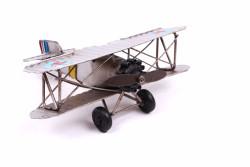 MNK - Dekoratif Metal Uçak Çift Kanatlı