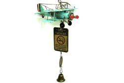 Mnk - Dekoratif Metal Uçak Kapı Çanı