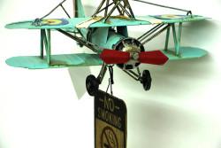 Mnk - Dekoratif Metal Uçak Kapı Çanı (1)