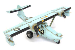 Mnk - Dekoratif Metal Uçak