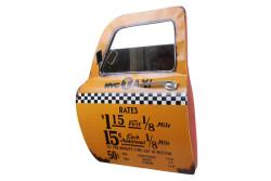 MNK - Dekoratif Newyork Taxi Temalı Sarı Araba Kapısı Ayna (1)
