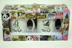 Just me - Espresso 2'li Kupa Seti Müzik B (1)