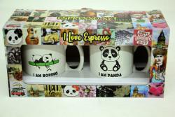 Just me - Espresso 2'li Kupa Seti Panda (1)