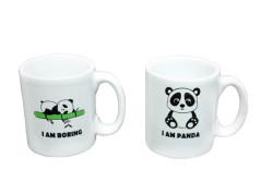 Just me - Espresso 2'li Kupa Seti Panda