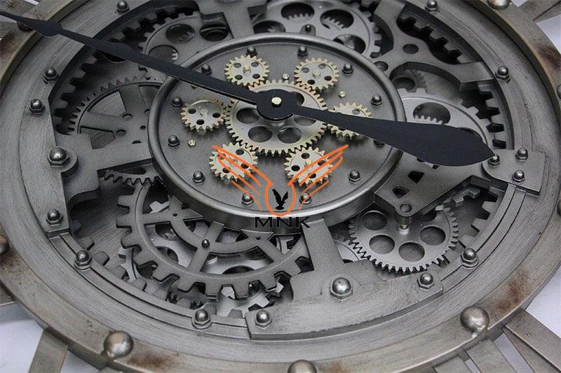 Yuvarlak Roma Rakamlı Metaloksit Çarklı Metal Duvar Saati