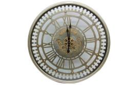 CROWNWELL - Yuvarlak Spintime Roma Rakamlı Yeşiloksit Çarklı Metal Duvar Saati