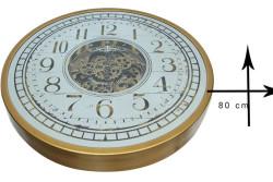 CROWNWELL - Çarklı Duvar Saati Sarıoksit (1)