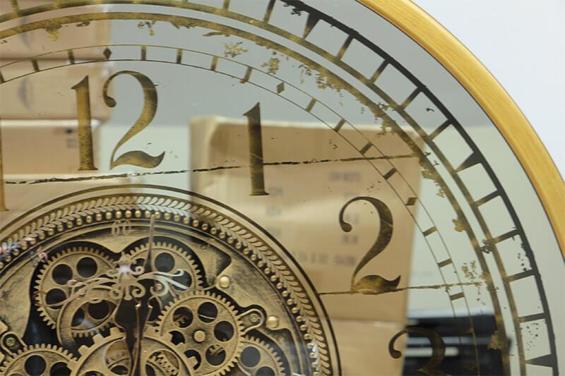 Çarklı Duvar Saati Sarıoksit