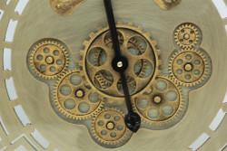 Yuvarlak Spintime Yeşiloksit Çarklı Metal Duvar Saati - Thumbnail