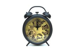 CROWNWELL - Retro Masaüstü Metal Çarklı Saat
