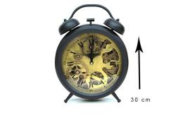 Crownwell - Retro Masaüstü Metal Çarklı Saat (1)