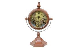 CROWNWELL - Masaüstü Mat Kahve Çarklı Saat