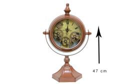 Crownwell - Masaüstü Mat Kahve Çarklı Saat (1)